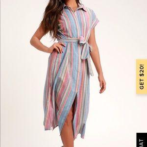 Never worn!! Light weight rainbow dress!